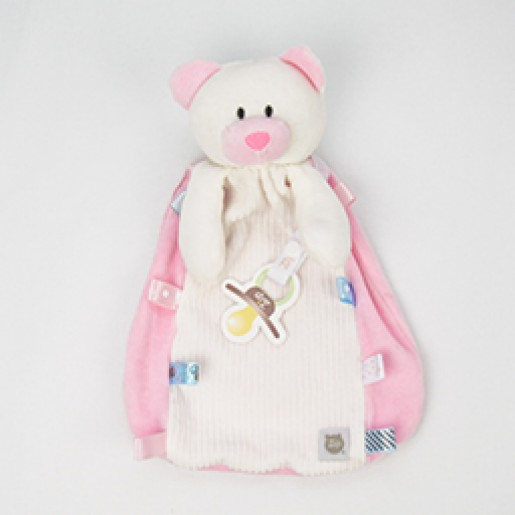 Blanket Tags Urso Rosa